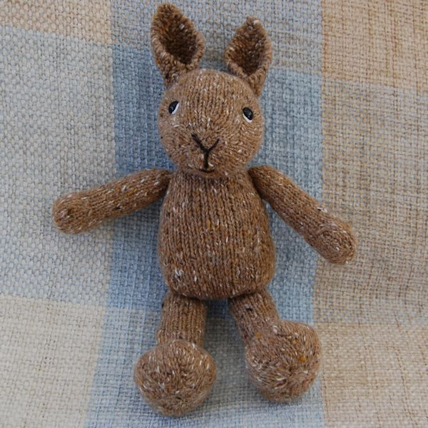 With our embroidered eyes this little rabbit is ideal for children and new babies