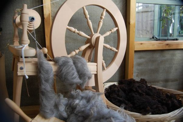 Herdwick fleece carded into rolags ready for hand spinning