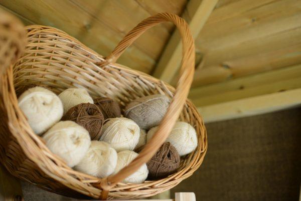 Castlemilk Moorit and Shetland wool