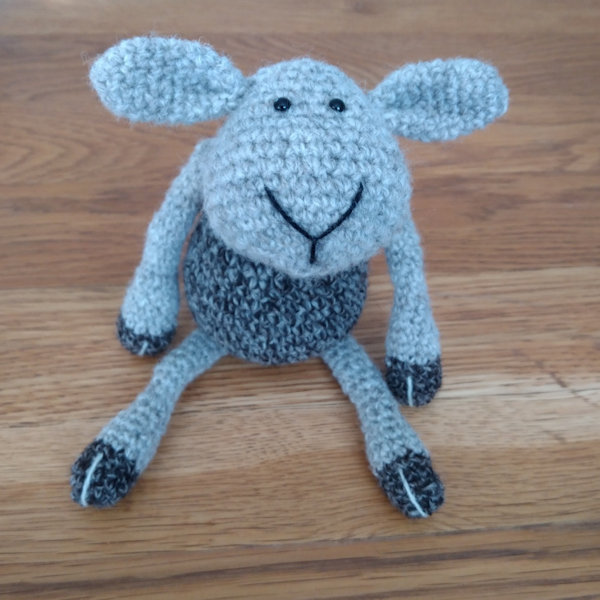 Adorable Herbert crocheted in pure soft Jacob wool