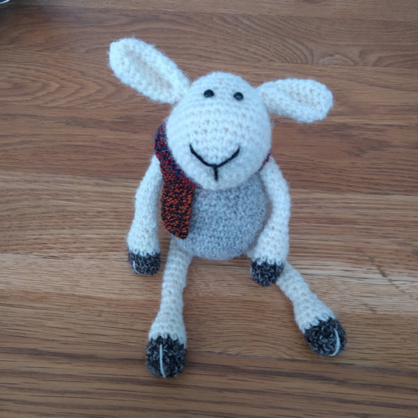 Sydney sheep crocheted in pure Shetland wool