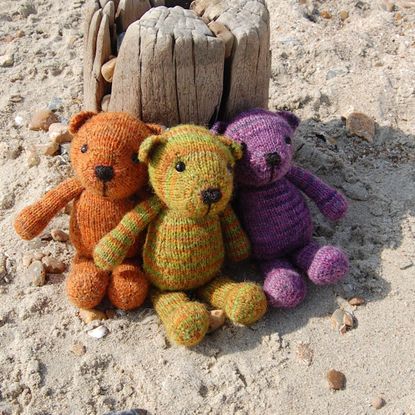 Auskerry North Ronaldsay hand dyed wool teddy bears