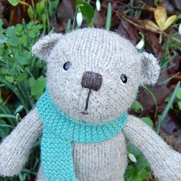 Boris a hand made rare breed Boreray wool teddy bear