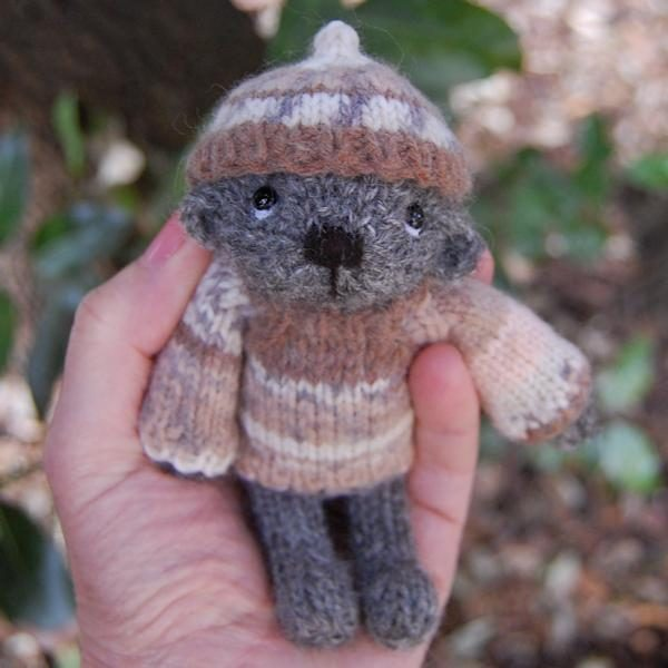 The very cute Marcus, hand knitted in pure Gotland wool.