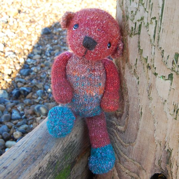 So sweet! Uniquely hand dyed wool teddy bears