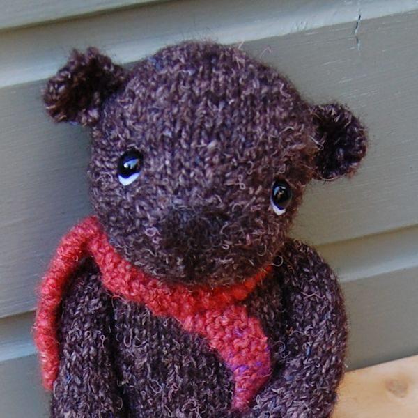 Little Hand Dyed Wool Bear Marlow