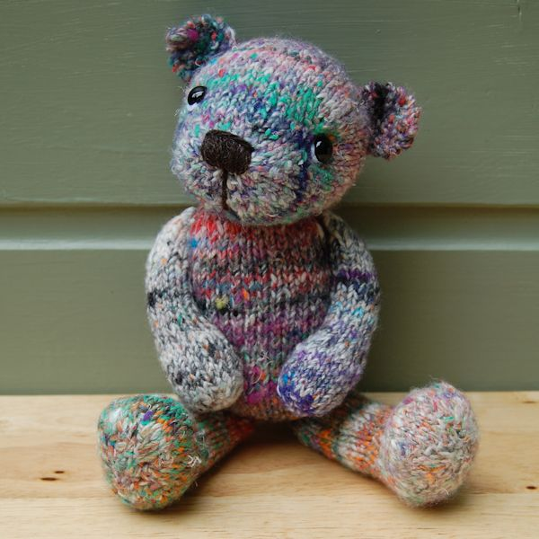 Bespoke hand dyed wool teddy bear