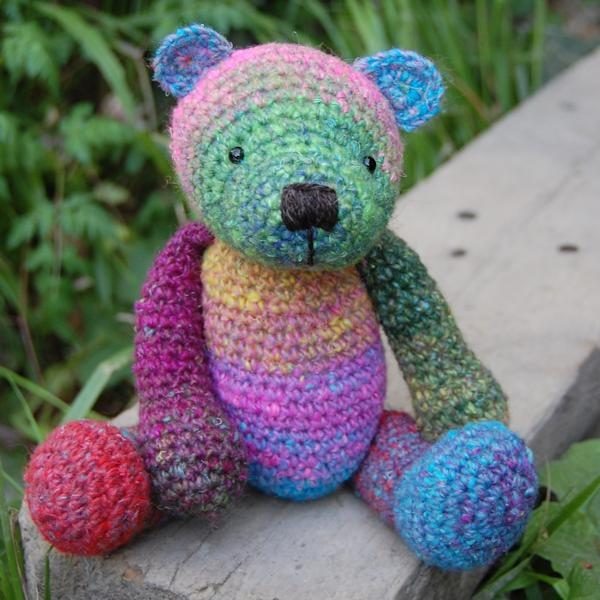 George, crocheted in bespoke hand dyed yarn