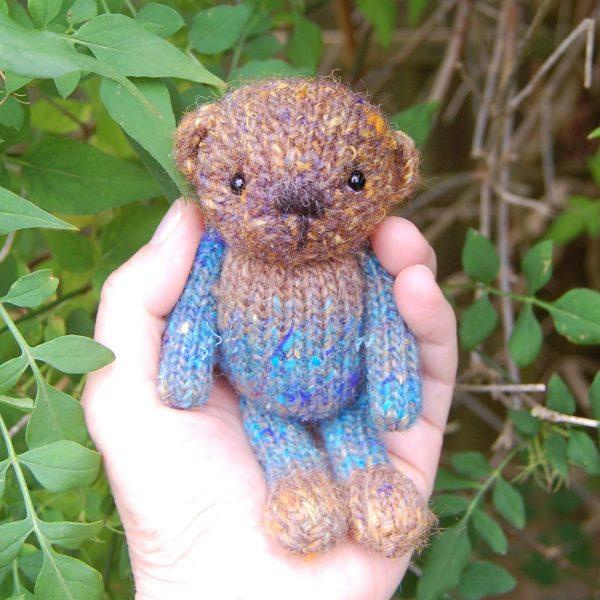 Alfonzo a bespoke hand dyed wool teddy bear