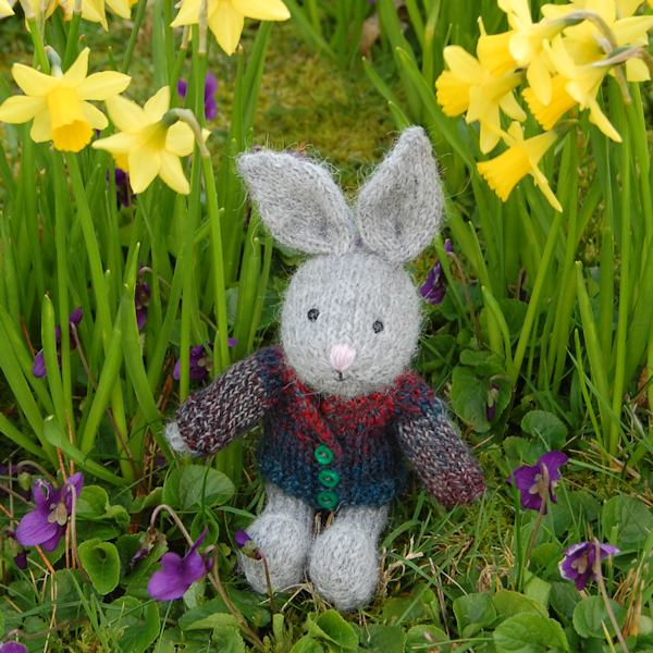 Little alpaca wool Easter bunny