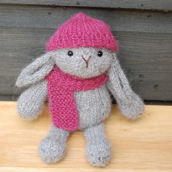 The cutest little alpaca wool rabbit!