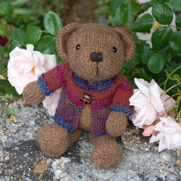 Adorable little Bryn hand knitted from pure rare breed Castlemilk Moorit wool