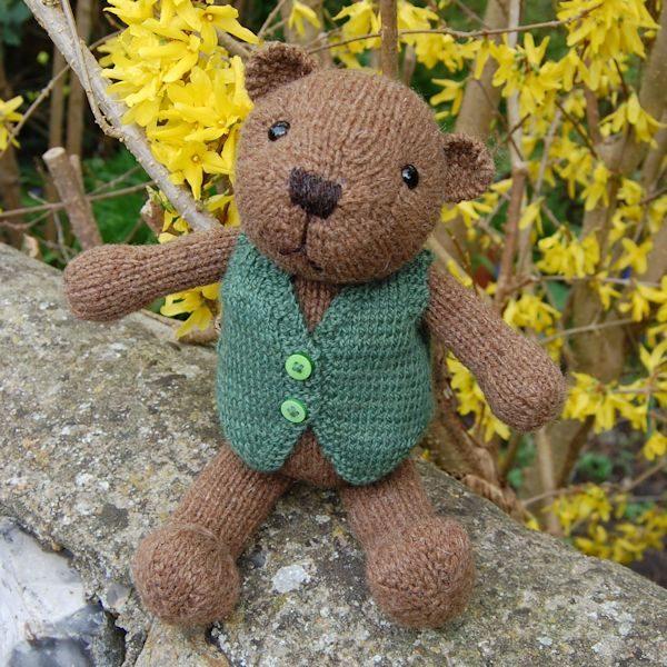 Pure Soay wool teddy bear