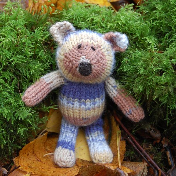 Meet Monty our Fair Isle wool knitted teddy bear