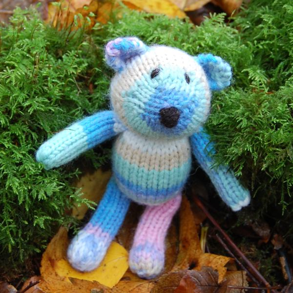 Meet Gregory our little Fair Isle wool teddy bear