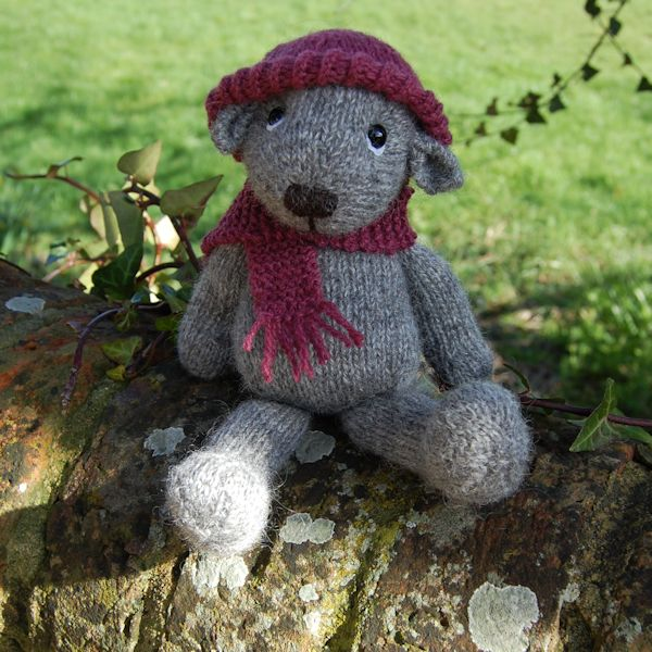 Our gorgeous Gotland bear hand knitted from pure hand spun wool