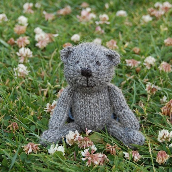 So cute! Our new Little Scraps teddy bear Dempster, just pocket size and adorable!