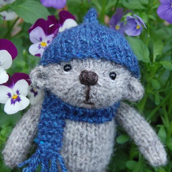 Little Harry the Herdwick wool teddy bear - close-up