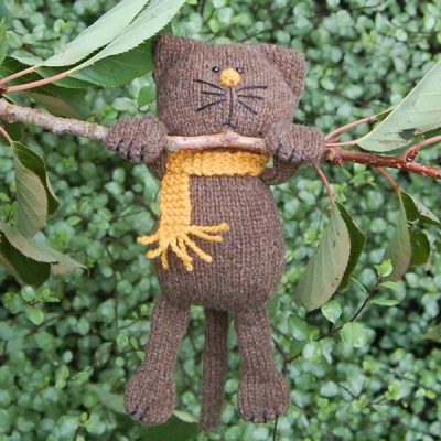 Frederick a Manx Loaghtan wool hand knitted cat - very cute!