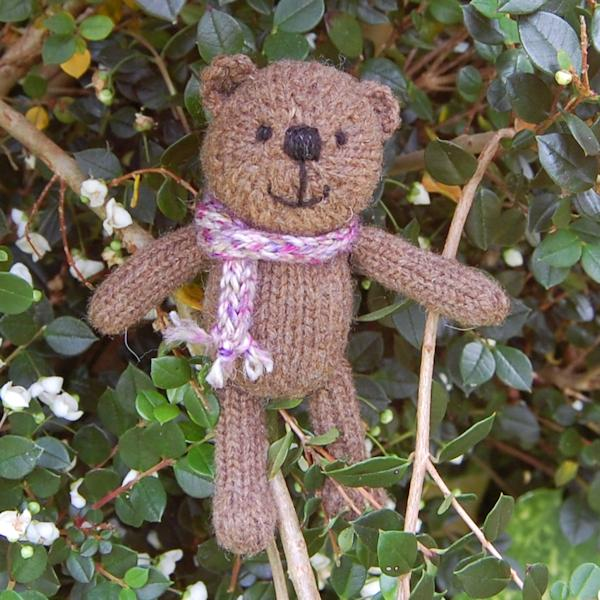 Meet Fudge the third of our Little Scraps teddy bears from our new range. Hand knitted from pure Manx Loaghtan wool and measuring just 5.5 inches - a real cutie!