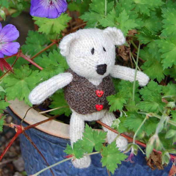 Little Siegfried hand knitted in Norfolk Horn wool