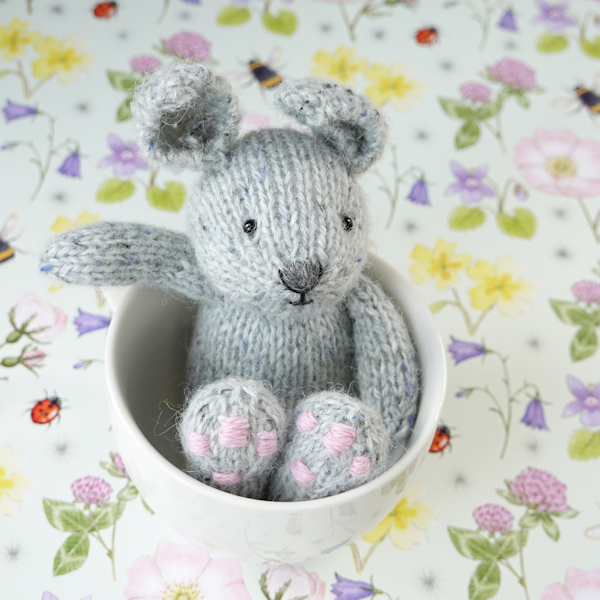 Little hand knitted rabbit - The Knitted Bear Co