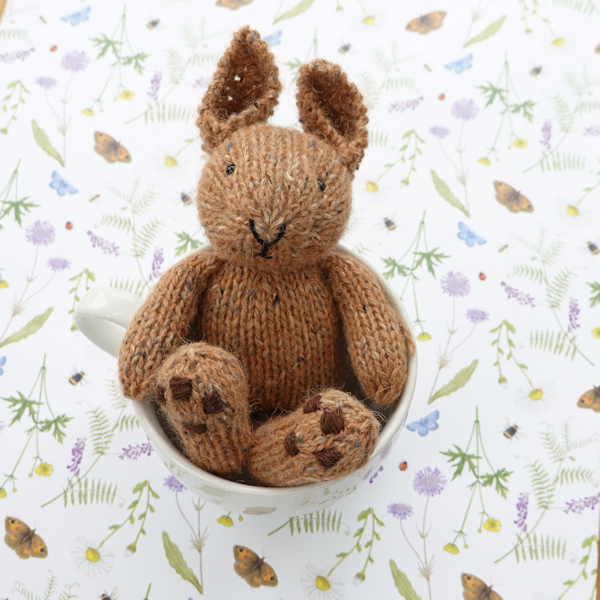 Adorable little Cadbury, a hand knitted rabbit - The Knitted Bear Company