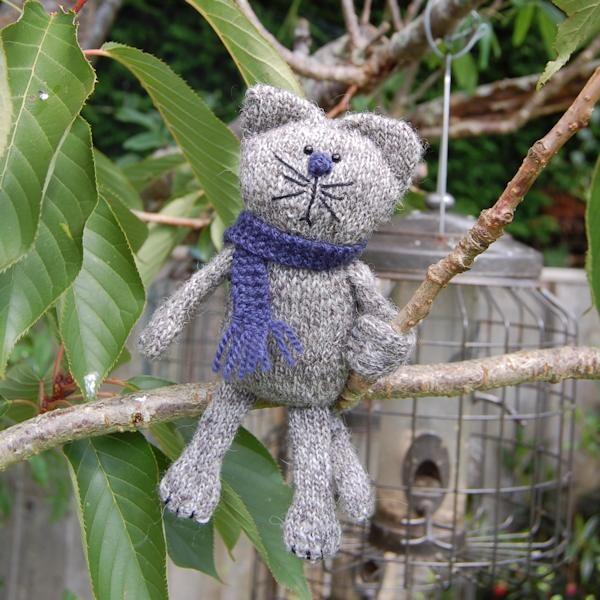Felix a hand knitted shetland wool cat