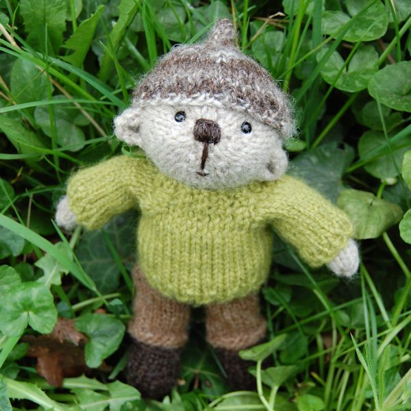 The very cute Gethin, hand knitted in pure Shetland wool