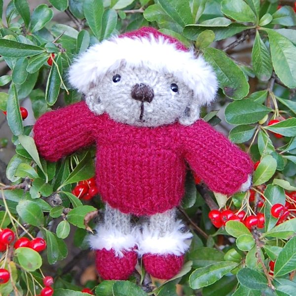 The very cute Noel, hand knitted in pure Shetland wool