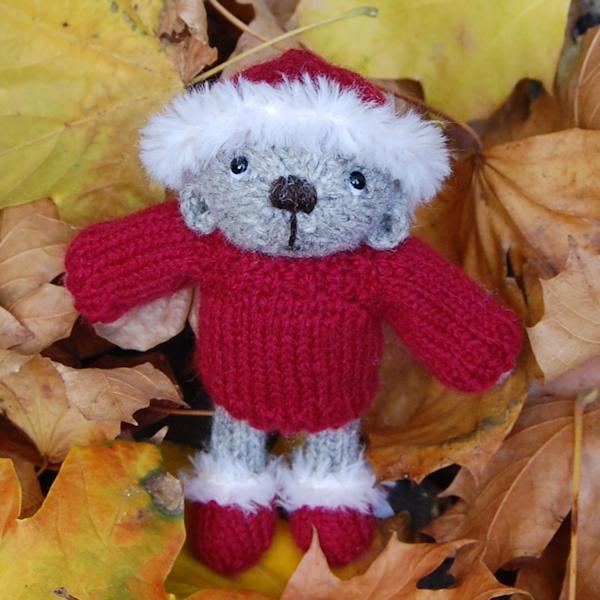 The very cute Noel, hand knitted in pure Shetland wool