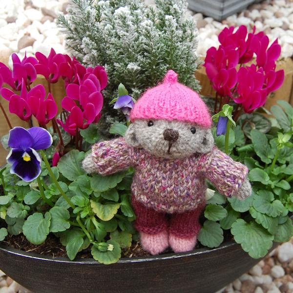 Cute little Alwen hand knitted in pure Shetland wool