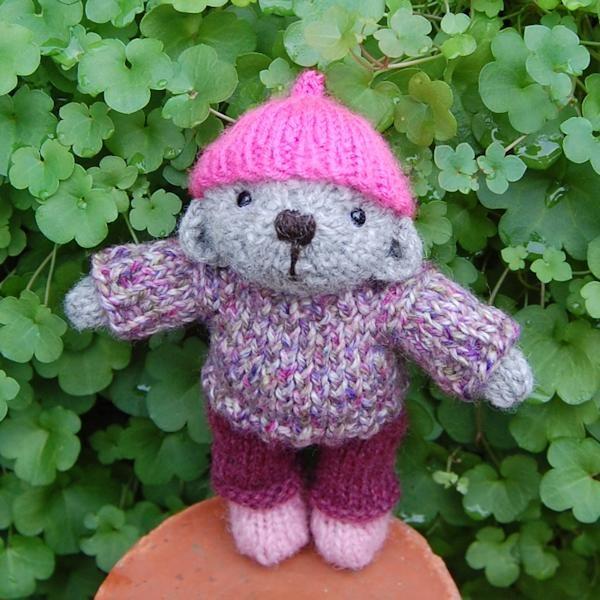 Cute little Alwen hand knitted in pure Shetland wool