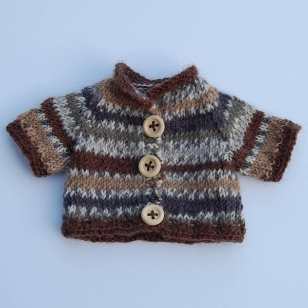 Pure Shetland wool Fair Isle jumpers for teddy bears