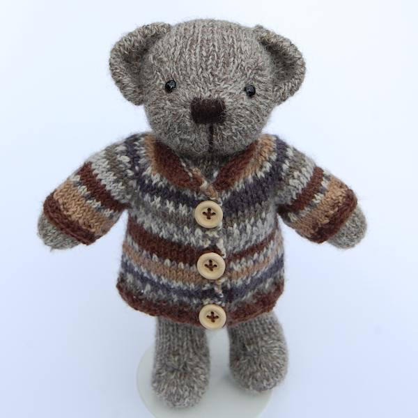 Pure Shetland wool Fair Isle jumpers for teddy bears
