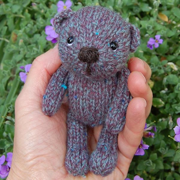 Tweed wool teddy bear - Morgan