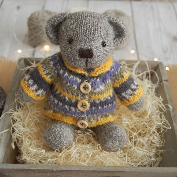 Cute little Hamish hand knitted in pure Wensleydale wool