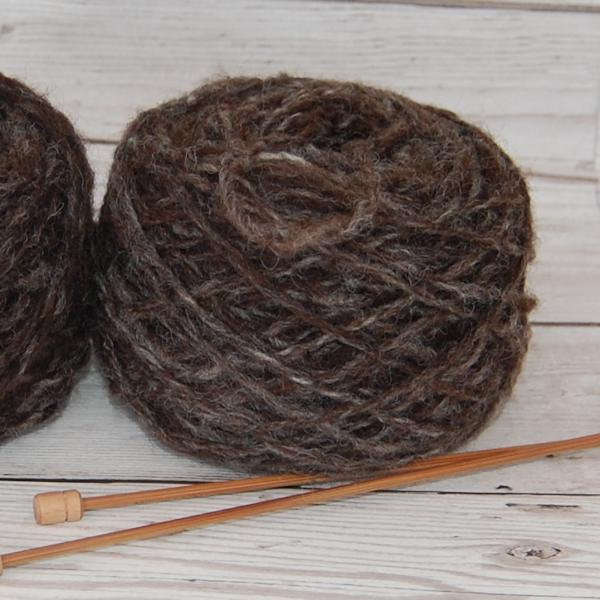 Hand spun humbug Jacob knitting wool 50g