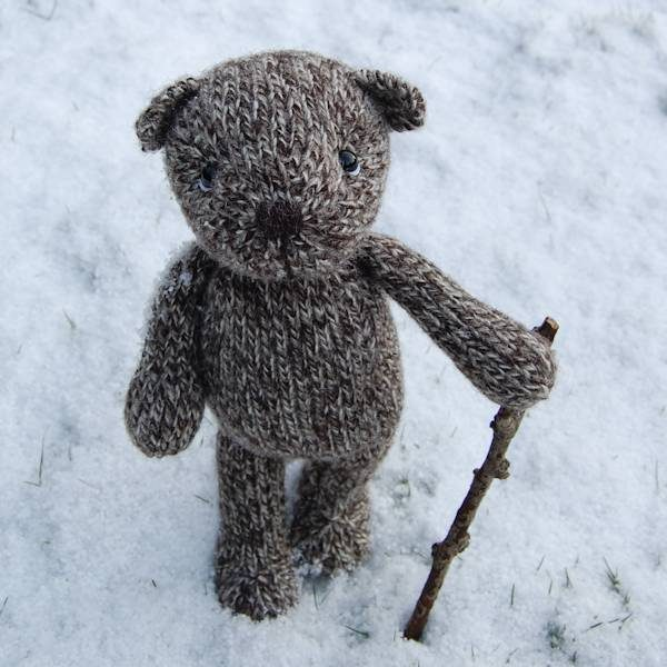 The lovely Dexter hand knitted in pure Jacob marl wool
