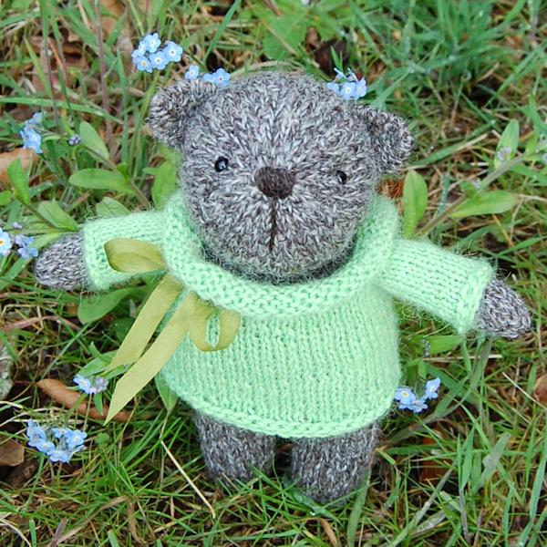 Little Herbie a hand spun Jacob wool teddy bear - so cute!