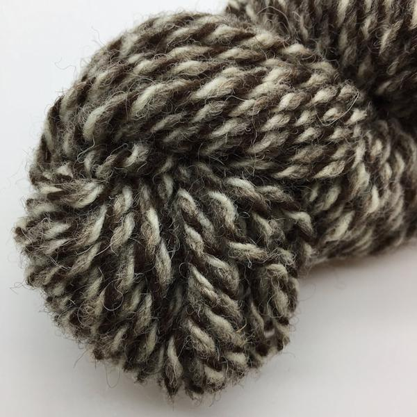 Jacob hand spun wool