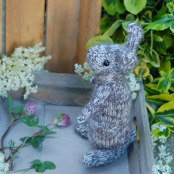 Sweet little hand knitted bunny rabbit