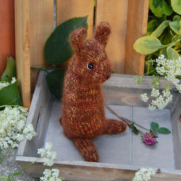 So cute! Little hand knitted bunny rabbit