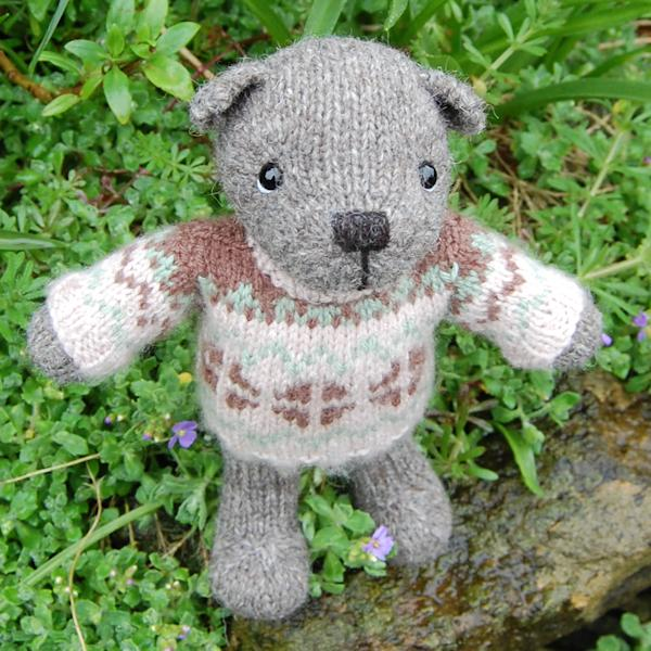 Hamilton, our very special pure North Ronaldsay wool teddy bear.
