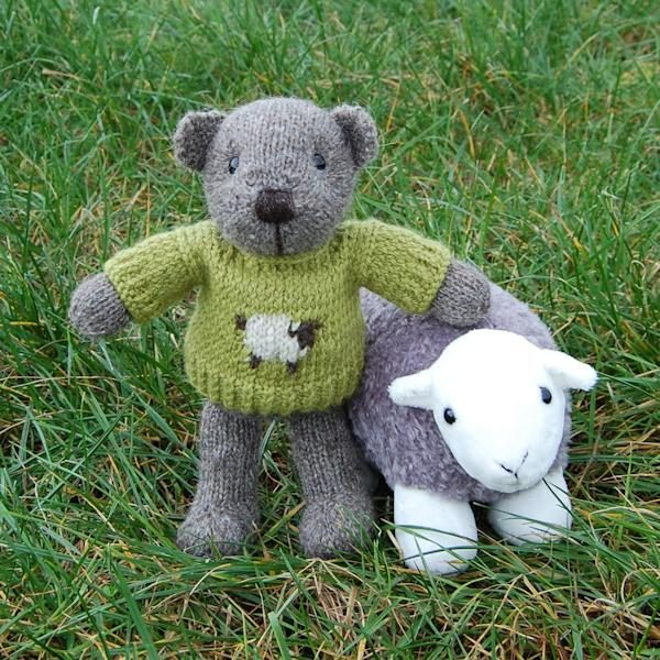 Pure rare breed North Ronaldsay wool teddy bear