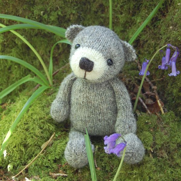 Gorgeous little pure organic North Ronaldsay wool teddy bear