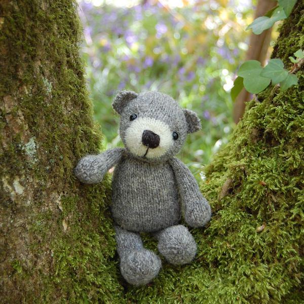 Gorgeous little pure organic North Ronaldsay wool teddy bear