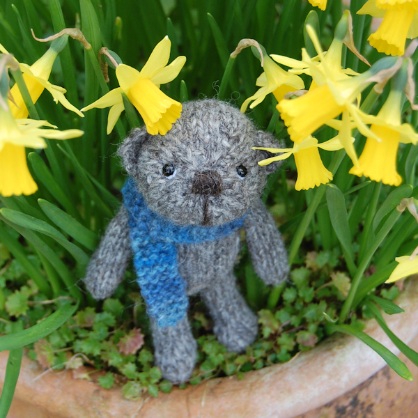Little Douglas, hand made from North Ronaldsay wool and just pocket size!