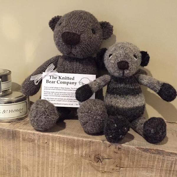 Cute little bears made from Zoe's Ryeland wool