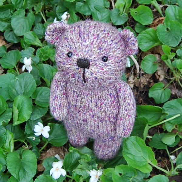 Little Imogen hand knitted in pure Shetland Island tweed wool.